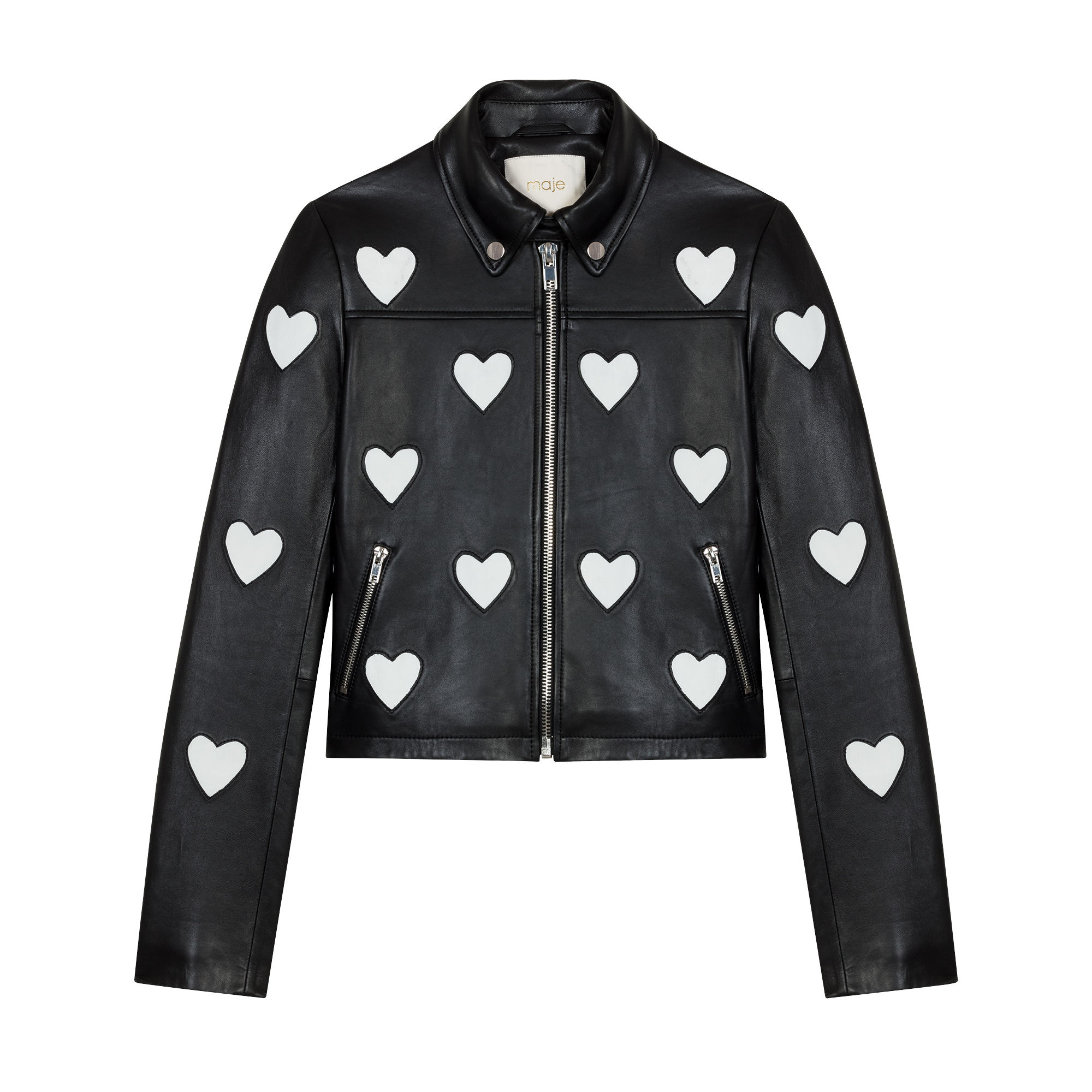 Leather jacket love - Coats & Jackets - MAJE